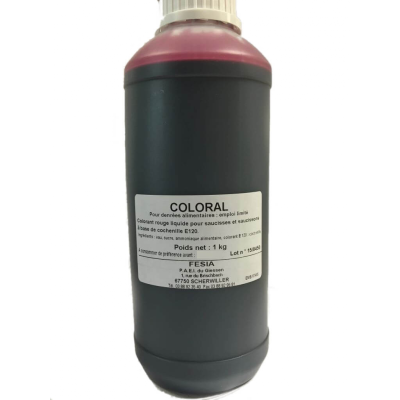 Coloral, colorant liquide Rouge