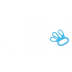 Fixe gant élastique bleu, Taille M (x 100)